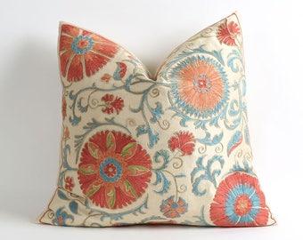 Suzani pillowcase 18x18 inches