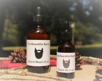 The Beardiful Barber Beard Wash and Oil Combination