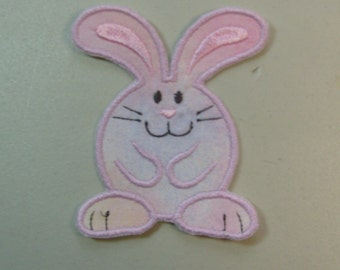 Bunny  iron on or sew on applique patch
