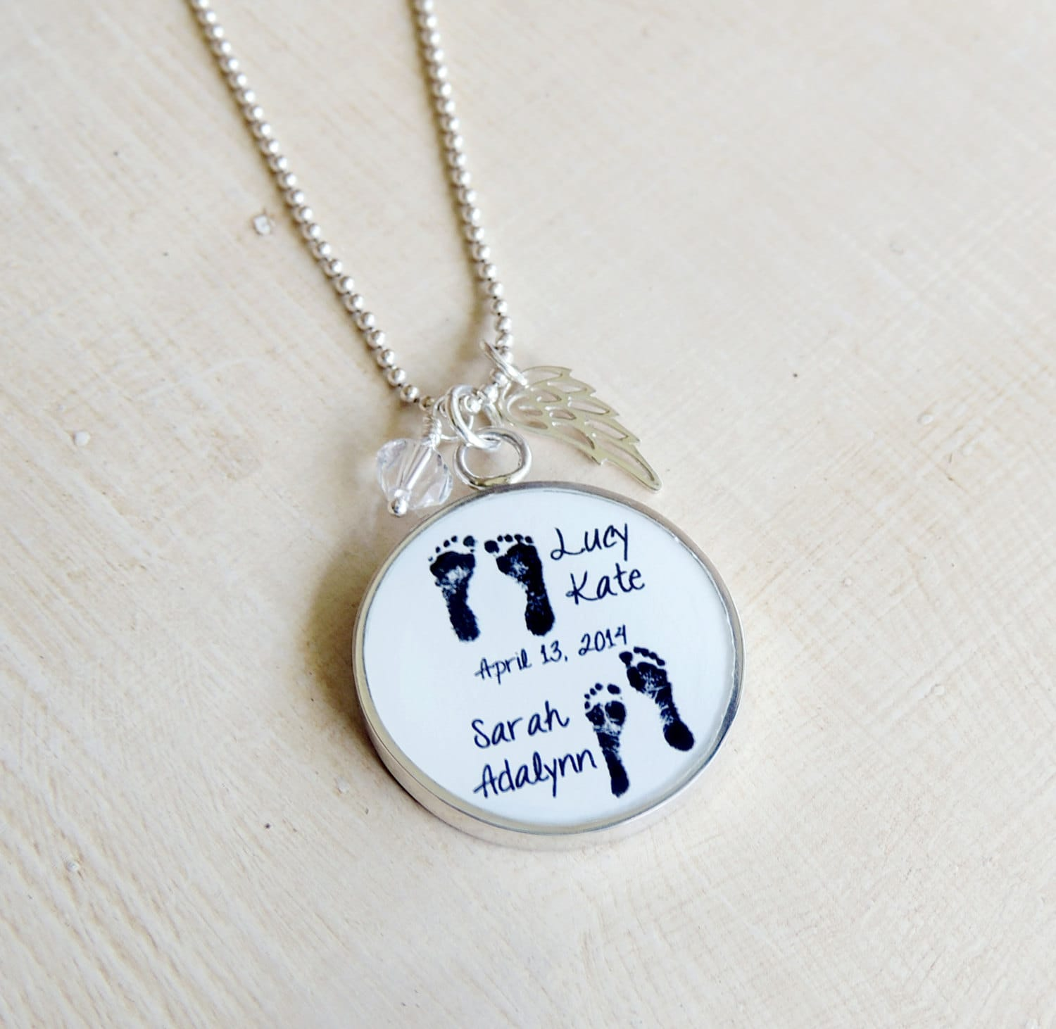 memorial engraved jewelry personalized with dad necklace in products handwriting photo