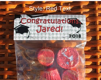 Grad Party Thank You | Class of 2018 | Graduation Treat Bag | Graduation Party Tops | Tassel Hassle | Graduation Party Bags | Qty 12