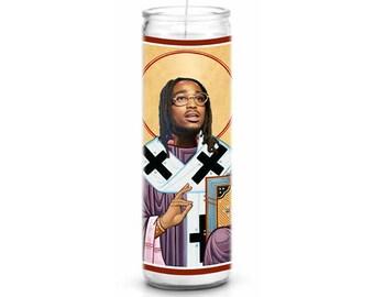 Quavo Migos Saint Celebrity Prayer Candle