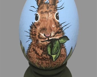 Hand Painted Easter Egg - Bunny