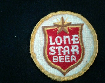 Lone Star Beer Patch Vintage 1970s