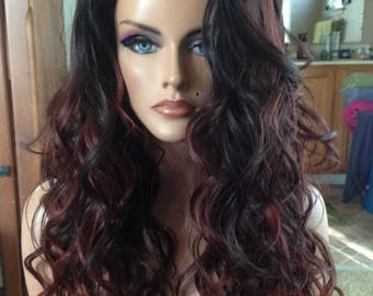 Free Shipping - Classic Wig - High Quality Synthetic Hair - Wavy Confetti Wig Multi Colors - Comfortable Fit - Chic - Fashion