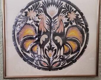 Vintage Sztuka Lowicka Wycinanki Polish Paper Folk Art