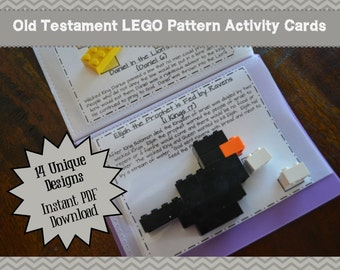 Old Testament LEGO Pattern Activity Cards