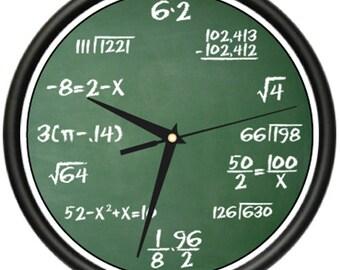 Math Class Wall Clock Mathematics Teacher Classroom Gift
