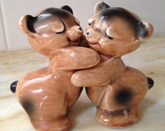 Vintage Van Tellingen  Salt and Pepper Shakers, Bear Salt & Pepper Shakers,