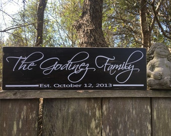 Family name sign, Personalized family sign, 24x7.25