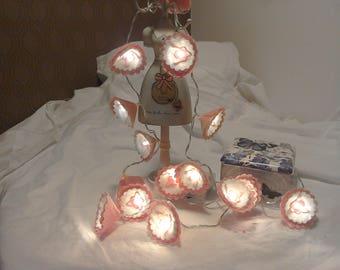 """Flower Felt LED 15 Battery Powered Fairy Lights approximately 60"""" in length."""