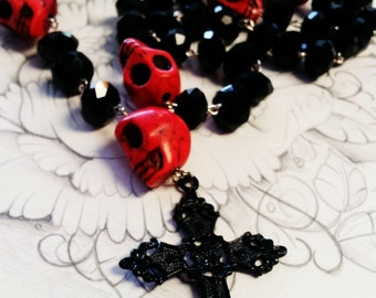 Day of the Dead Sugar Skull Rosary