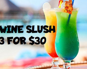 Wine Slush Bundle 3 for 30| Margaritas| Cocktail Party| Wine Gift| Gifts for 21| Wine Drinks| Birthday Gift| Gifts for Her| Drink in Hand