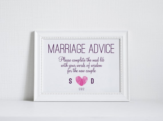 Words Of Advice On Marriage