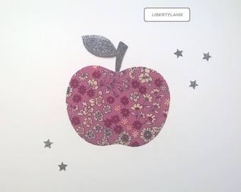Set of fusing Apple ruffled purple and grey glitter flex