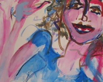 Pink Blue Oh Please! Abstract Expressionism
