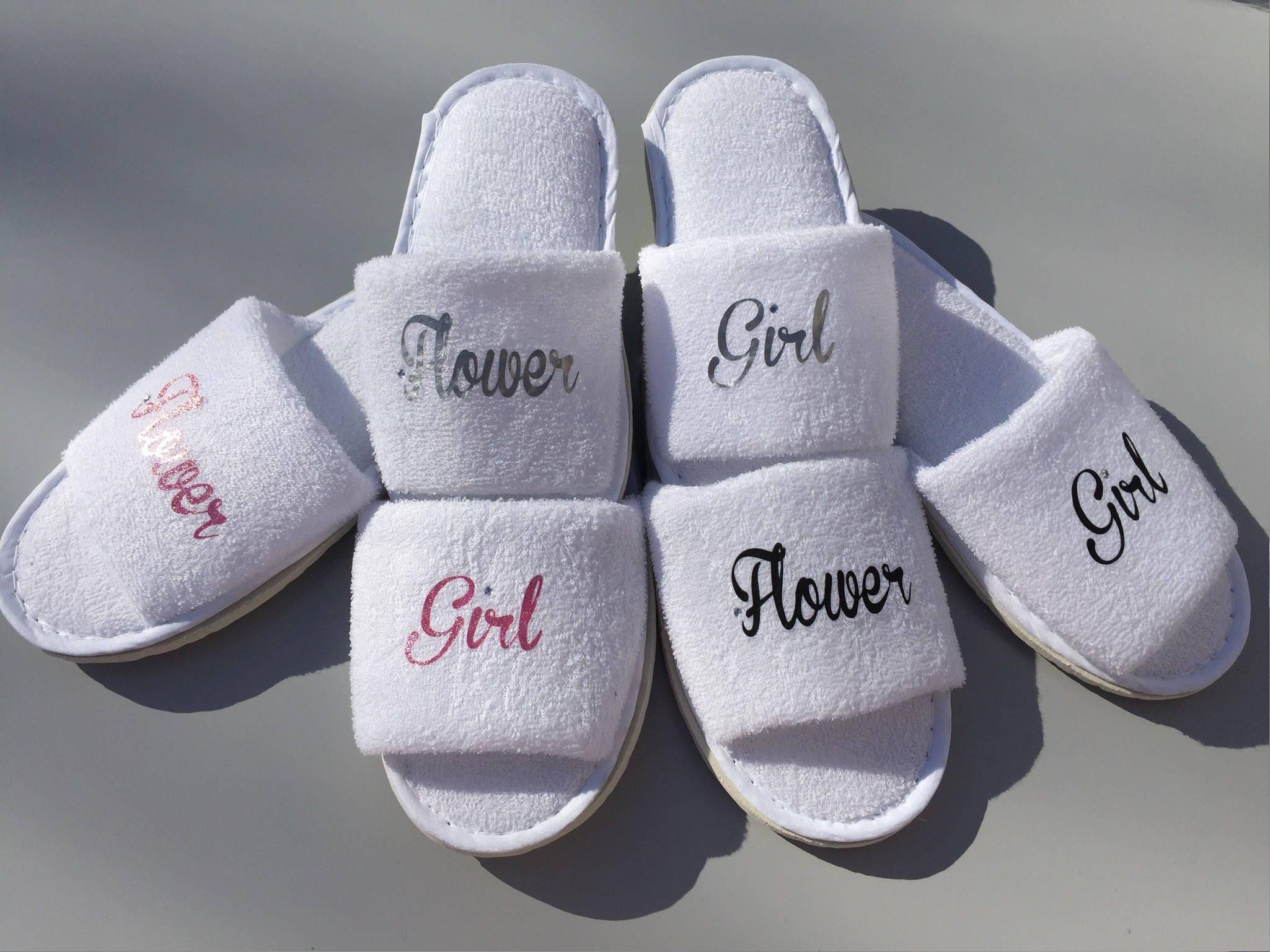 Flower Girl Shoes Flowergirl Gift Wedding Slippers Flower Girl