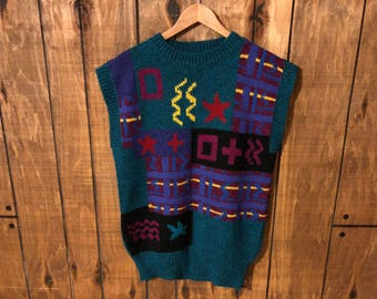 Vintage 90s Cute Kitschy Tacky Sweater Vest