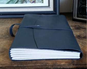 Large Leather Journal, Dark Gray Hand-Bound 6 x 9 Journal by The Orange Windmill on Etsy 1791