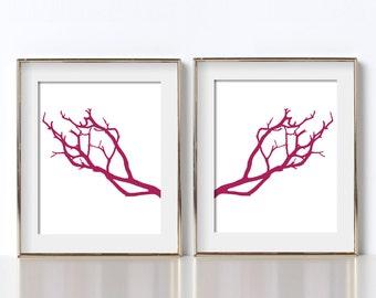 Minimalist Art Cabin Decor Digital Download Printable Art Abstract Branch Art Manzanita Tree Branches Summer Fine Art Valentines Day Gift
