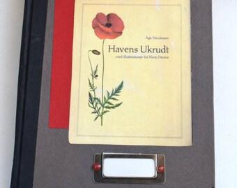 Poppy Sketchbook, Botanical Sketchbook, Handmade Sketchbook, Hardcover Sketchbook, Watercolor Sketchbook