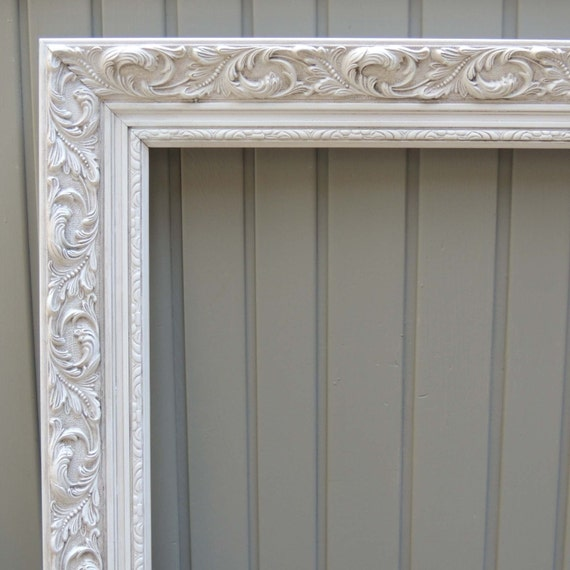 White Picture Frames, 24x36 Picture Frame, Ornate Picture Frame ...