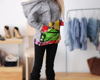 graffiti + gray sweatshirt hoodie for minifee MSD FR16 and other 1/4scale