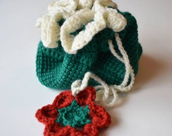 100% Wool Handbag -- Green
