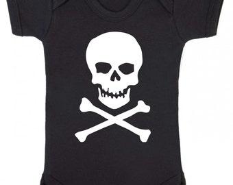 Skull and Crossbones Baby Vest