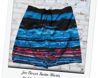 Surf shorts,Vintage swim shorts, men's summer shorts,  swim trunks,  Size Extra Large  waist,   # 9
