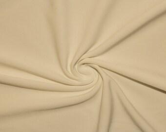 "Cream #54 Swimwear Activewear 4 Way Stretch Nylon Spandex Lycra Solid Apparel Cosplay Craft Fabric 56""-58"" Wide By The Yard"