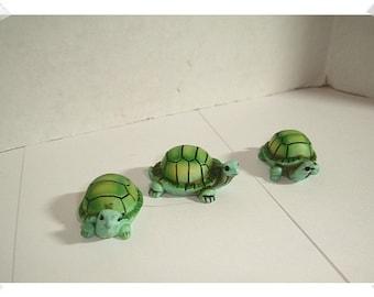 Fairy Garden Resin Turtles/ Set of 3*/Minis/Supplies*