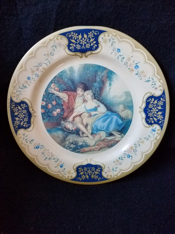 1950s Baret Ware Lithograph Tin Plate The Idyll
