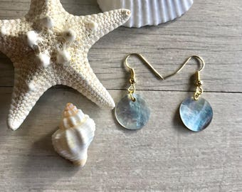 Double sided shell earrings