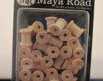 Maya Road Wood Mini Spools