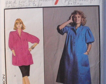 1980's Pullover Maternity Dress or Tunic and Skirt Sewing Pattern by Jasper Conran - Style 4751 - Size 14, Bust 36