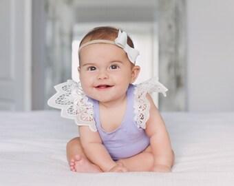 Set of 2 baby headband, nylon headbands, bow headbands
