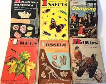 6 Vintage Golden Nature Guide Books by Zim, Shaffer, Martin, et al. (1950s - 1960s)