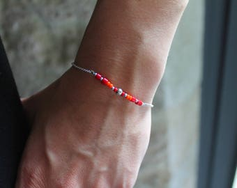 Chain bracelet and bamboo coral