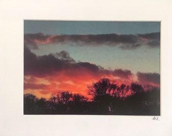 Pink Sunset photo matted