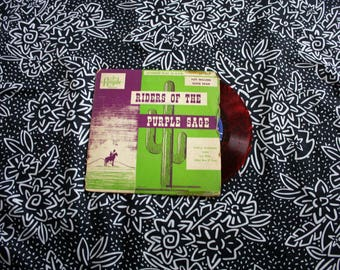 "Riders Of the Purple Sage - Tumbling Tumbleweeds Vintage Red Colored Vinyl 45 7"" Record. Original 1950s  Records Country Record"