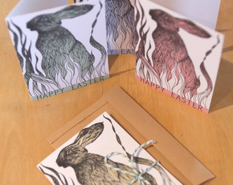 Easter Cards // Easter Bunny Cards // Happy Easter // Greeting cards // Set of 4