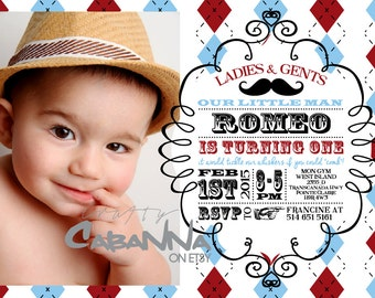 Little Man's Birthday Party Invitation