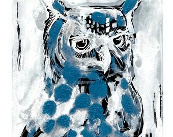Original Owl Print - A5