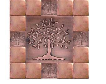 Kitchen backsplash tiles accent tiles tree of happiness tree of life wall art. SET OF 17 TILES  sc 1 st  Etsy & Tree of life wall art | Etsy
