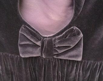 Velvet vintage Laura Ashley deep purple dress
