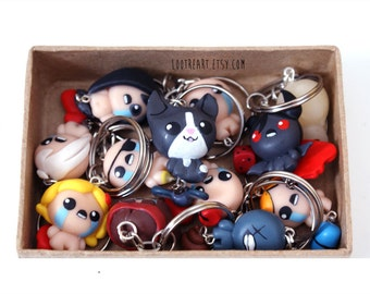 The Binding Of Isaac Rebirth Keychain / phone Charm (Any character) Afterbirth Apollyon Keeper Lilith added