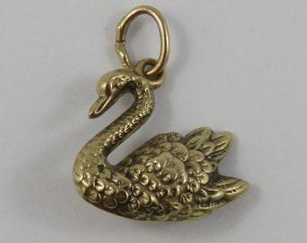 Schwan 9K Gold Vintage-Charme für Armband