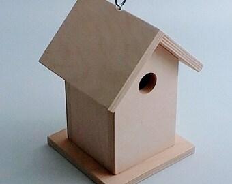 Birdhouse - Unfinished Birdhouse - Functional and Decorative Birdhouse - DIY Birdhouse - Paint your own Birdhouse - Ready to Paint Birdhouse