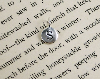 """Sterling Silver Letter  """"S"""" Charm"""